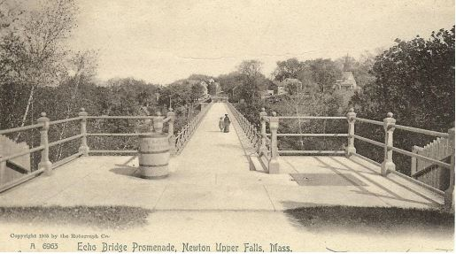 The Echo Bridge Railings a century ago
