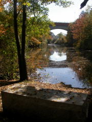 Echo Bridge in Fall from Artists Point with the Ken Newcomb Memoria